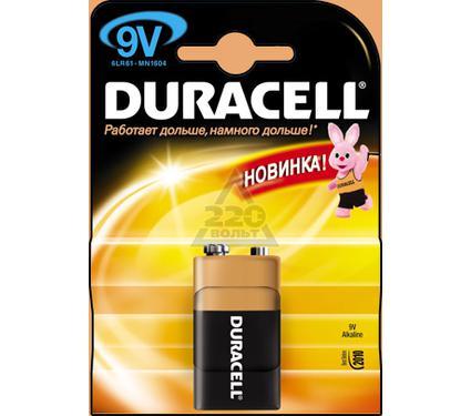Батарейка DURACELL 6LR61 (6LF22) BP1  9В 1шт. (крона)