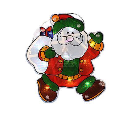 Электрическая гирлянда-панно на окно LUNTEN RANTA Дед Мороз