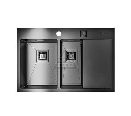 Мойка кухонная OMOIKIRI Akisame 78-2-GM-L - Вороненая сталь