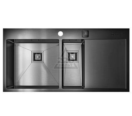 Мойка кухонная OMOIKIRI Akisame 100-2-GM-L - Вороненая сталь