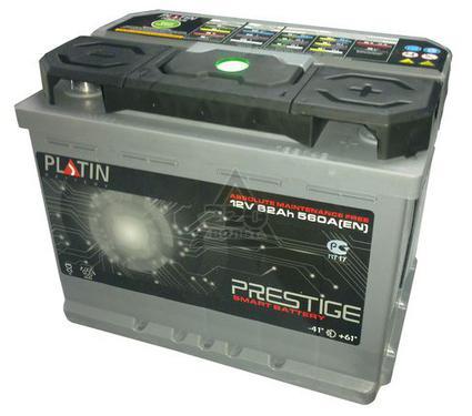 Аккумулятор PLATIN Prestige 62а/ч(R+),580А,(чип),евро
