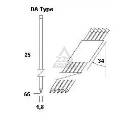 Гвозди для степлера OMER DA25/64