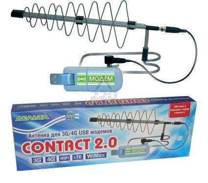 Усилитель интернет-сигнала 3G/4G антенна ДЕЛЬТА CONTACT 2.0 (CRC9)