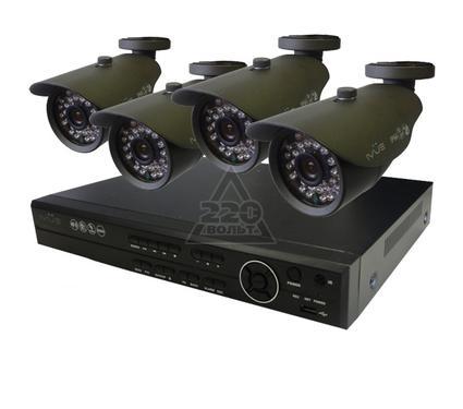 Комплект видеонаблюдения IVUE 6804VK-CI25B-70A-500Gb