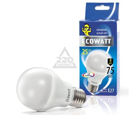 Лампа светодиодная ECOWATT A60 230В 9(75)W 4000K E27