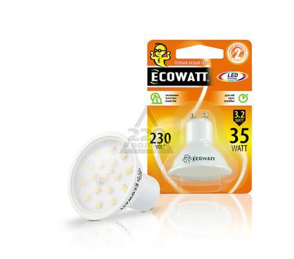 Лампа светодиодная ECOWATT GU10 230В 3.2(35)W 2700K GU10