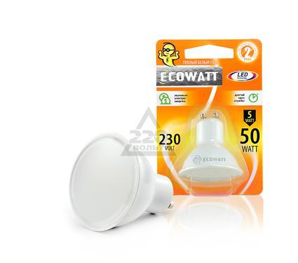 Лампа светодиодная ECOWATT GU10 230В 5(50)W 3000K GU10