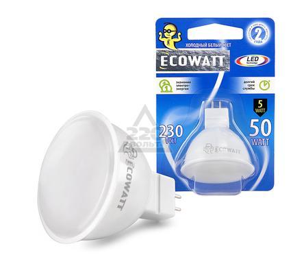 Лампа светодиодная ECOWATT JCDR 230В 5(50)W 4200K GU5.3