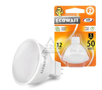 Лампа светодиодная ECOWATT MR16 12В 5(50)W 3000K GU5.3
