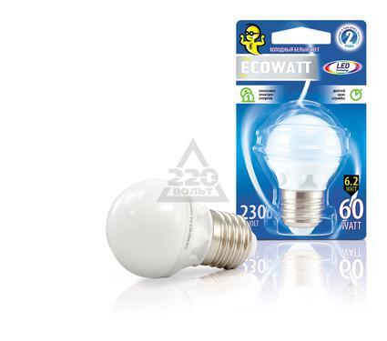 Лампа светодиодная ECOWATT P45 230В 6.2(60)W 4000K E27