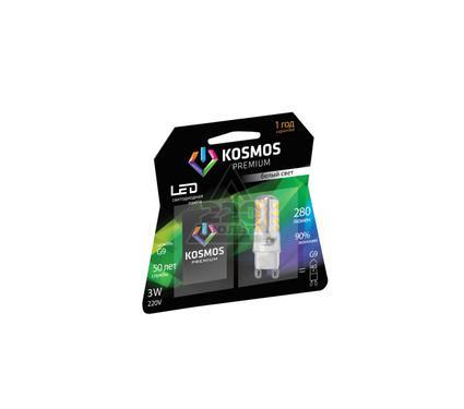 Лампа светодиодная КОСМОС premium LED 3Вт G9 4500К