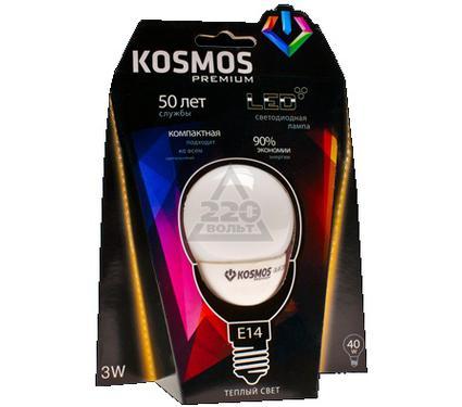 Лампа светодиодная КОСМОС premium LED 4Вт Шар прозрачный 45мм E14 230В 3000К