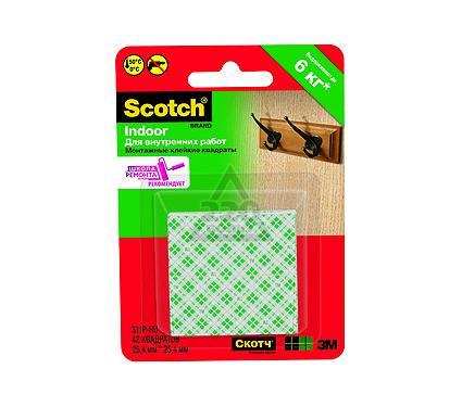 Монтажные квадраты 3М Scotch Монтажные двустор. квадраты 48шт, 2,5х2,5см для внутр. работ [311P] (6/