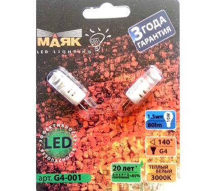 Лампа светодиодная МАЯК 1.5 G4-001