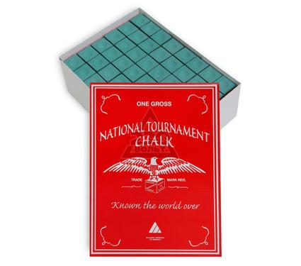 Мел SILVER CUP National Tournament Chalk Green 144шт.