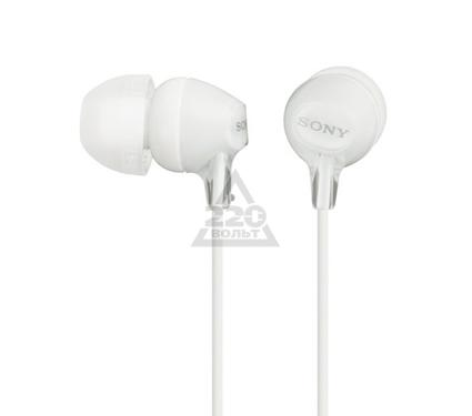 Наушники-вкладыши SONY MDR-EX15LP/W белый