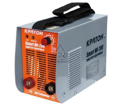 Сварочный аппарат КРАТОН Smart WI-200 7.2кВт 220В 50Гц 10-200А 1.6-5.0мм 6.9кг