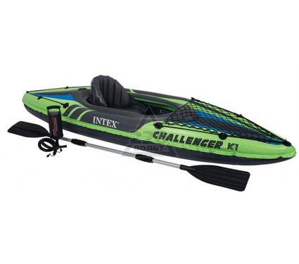 Каяк надувной INTEX CHALLENGER К1 kayak 68305