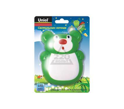 Ночник UNIEL DTL-301-Мишка/Green/3LED/0,5W