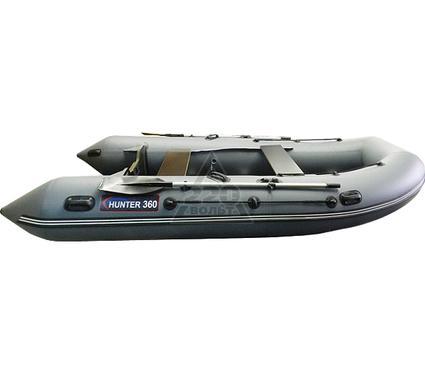 Лодка HUNTERBOAT Хантер 360 серая Комфорт