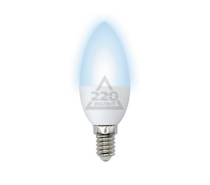 Лампа светодиодная VOLPE LED-C37-6W/NW/E14/FR/O