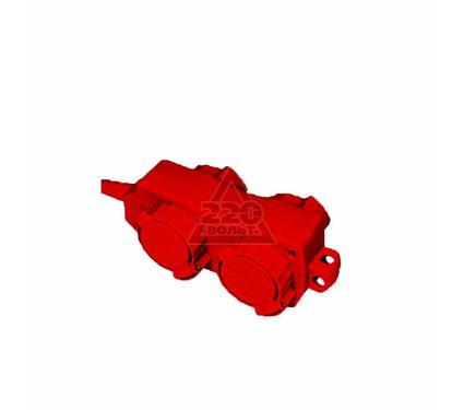 Удлинитель ТДМ Уз16-02/02 с крышками IP44. 4 места/5м ПВС 3х1.0 16А 220В 3500Вт