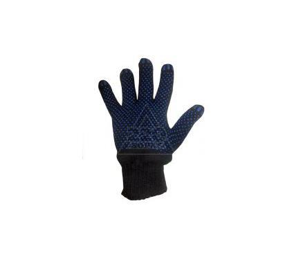 Перчатки ПВХ SKRAB х/б трикотажные вязаные, 5-х нитка, с ПВХ, черные