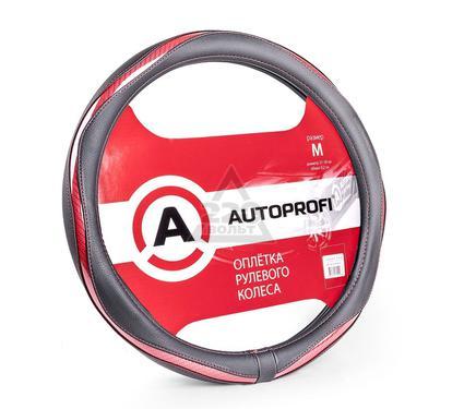 Оплетка AUTOPROFI AP-1413 BK/RD (M)