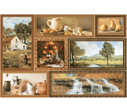 Декор керамический INTERCERAMA Д74031 Grani коричневый