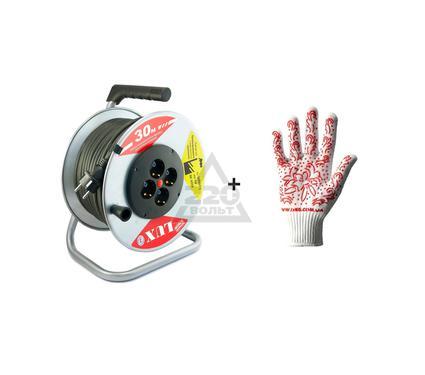 Набор: Удлиннитель LUX 44130 К4-Е-30 КГ + Перчатки DOLONI 622