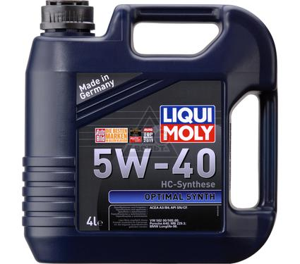 Масло моторное LIQUI MOLY Optimal Synth 5W-40 4L