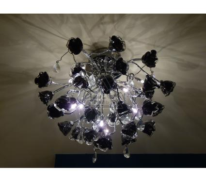 Люстра LAMPLANDIA 3878/10 Rose belle black