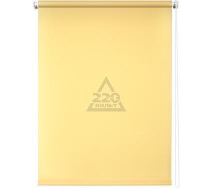 Рулонная штора УЮТ 80х175 Плайн светло-желтый