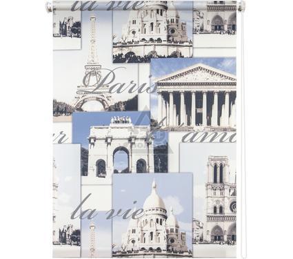 Рулонная штора УЮТ 90х175 Париж голубой