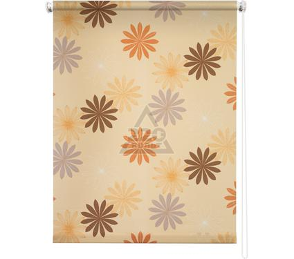 Рулонная штора УЮТ 60х175 Космея оранжевый