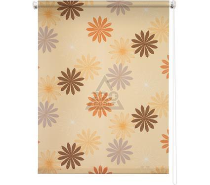 Рулонная штора УЮТ 140х175 Космея оранжевый