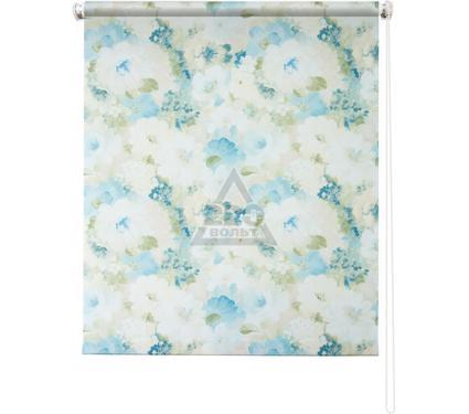 Рулонная штора УЮТ 140х175 Пионы голубой