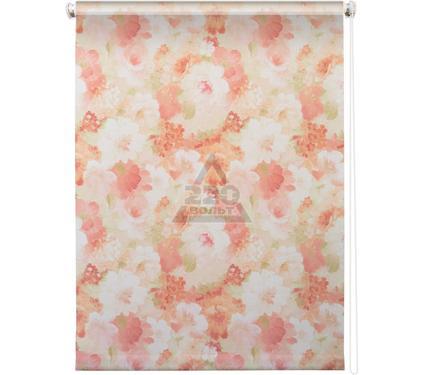 Рулонная штора УЮТ 140х175 Пионы розовый