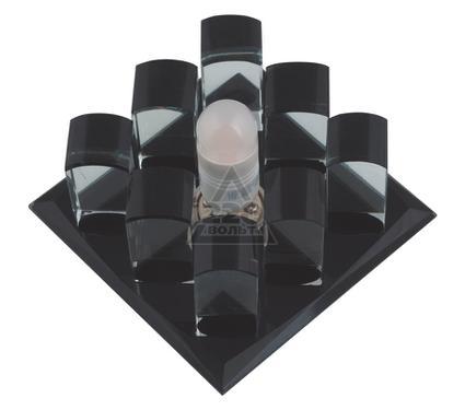 Светильник встраиваемый FAMETTO DLS-F118 G9 BLACK/CLEAR
