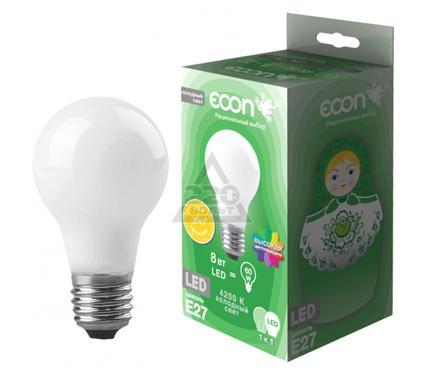 Лампа светодиодная ECON LED A 8Вт E27 4200K A60 FA