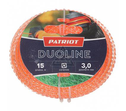 Леска для триммеров PATRIOT Duoline D 3,0мм L 15м