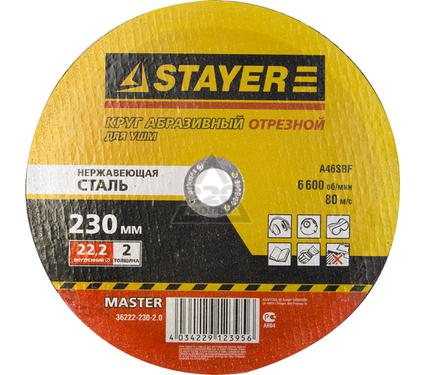 Круг отрезной STAYER MASTER 36222-230-2.0