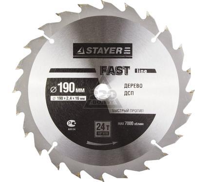 Круг пильный твердосплавный STAYER MASTER 3680-190-16-24