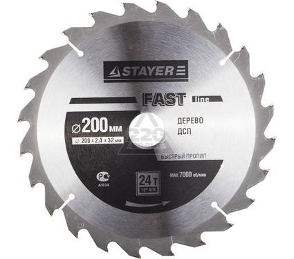 Круг пильный твердосплавный STAYER MASTER 3680-200-32-24
