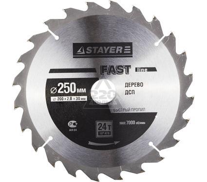 Круг пильный твердосплавный STAYER MASTER 3680-250-30-24