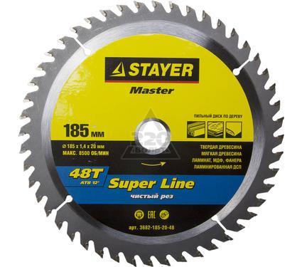 Круг пильный твердосплавный STAYER MASTER 3682-185-20-48