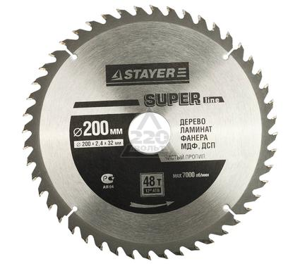 Круг пильный твердосплавный STAYER MASTER 3682-200-32-48