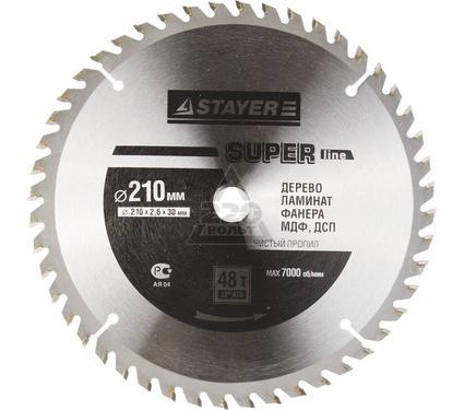 Круг пильный твердосплавный STAYER MASTER 3682-210-30-48