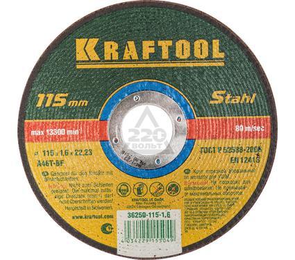 Круг отрезной KRAFTOOL 36250-115-1.6