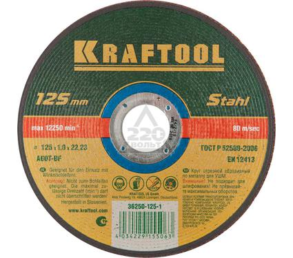 Круг отрезной KRAFTOOL 36252-125-1.0